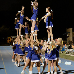 Staff photos by Tom Kelly IV<br /> Springfield Cheerleaders cheer during the game against Interboro at Springfield on Friday night August 29, 2014.