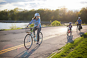 The B Family bikes around Madison, Wisconsin on May 2, 2016. <br /> <br /> Beth Skogen Photography - www.bethskogen.com
