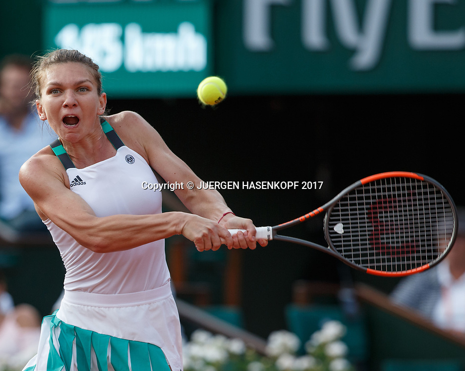 SIMONA HALEP (ROU)<br /> <br /> Tennis - French Open 2017 - Grand Slam / ATP / WTA / ITF -  Roland Garros - Paris -  - France  - 8 June 2017.