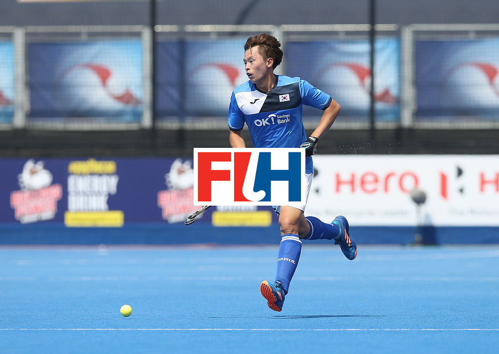 LONDON, ENGLAND - JUNE 17:  Daeyeol Lee of South Korea during the Hero Hockey World League semi final match between China and Korea at Lee Valley Hockey and Tennis Centre on June 17, 2017 in London, England.  (Photo by Alex Morton/Getty Images)