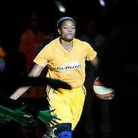 17 June 2014: Los Angeles Sparks guard/forward Alana Beard (0) is seen during the players introduction prior to the Minnesota Lynx  94-77 victory over the Los Angeles Sparks, at the Staples Center, Los Angeles, California, USA.