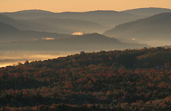 Peru, VT..Sunrise in the Green Mountain National Forest.  Near Bromley Ski Area.