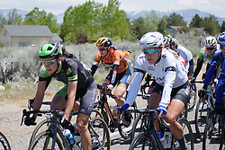 Jip van den Bos' jacket flaps in the wind at Amgen Breakaway from Heart Disease Women's Race empowered with SRAM (Tour of California) - Stage 2. A 108km road race in South Lake Tahoe, USA on 12th May 2017.