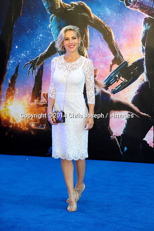 Image ©Licensed to i-Images Picture Agency. 24/07/2014. London, United Kingdom. Elsa Pataky attends the UK Premiere of 'Guardians of the Galaxy' at Empire Leicester Square. Picture by Chris Joseph / i-Images