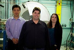 The Powder Diffraction team at the Australian Synchrotron.<br /> Dr Justin Kimpton, Principal Scientist - Powder Diffraction;<br /> Dr Qinfen Gu, scientist - Powder Diffraction;<br /> Dr Helen Brand, Scientist - Powder Diffraction;