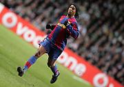 Ronaldinho of Barcelona. Celtic v Barcelona, Uefa Champions League, Knockout phase, Celtic Park, Glasgow, Scotland. 20th February 2008...