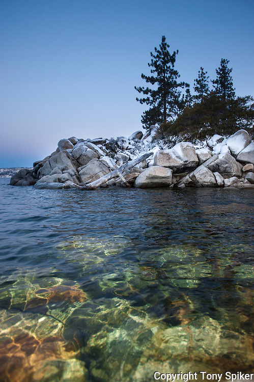 """Sand Harbor 2"" - A photograph of a winter morning at Sand Harbor, on the Eastern Shore of Lake Tahoe"