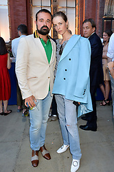 Evgeny Lebedev & Edie Campbell at the V&A Summer Party 2017 held at the Victoria & Albert Museum, London England. 21 June 2017.