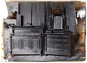 early 1900s product photo of hand crafted cabinet furniture