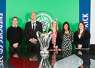 January 15, 2014: The Oklahoma City Energy FC hosts the MLS Cup at their office in Oklahoma City.  In addition Jimmy Nielsen and Chris Spendlove accompany the MLS Cup to the NewsOK offices and City Hall.
