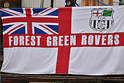 Forest Green Rovers Fan flag  during the Vanarama National League match between Barrow and Forest Green Rovers at Holker Street, Barrow, United Kingdom on 28 January 2017. Photo by Mark Pollitt.