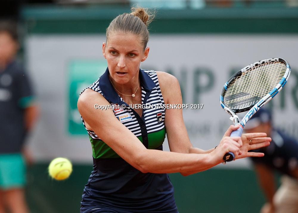 KAROLINA PLISKOVA (CZE)<br /> <br /> Tennis - French Open 2017 - Grand Slam / ATP / WTA / ITF -  Roland Garros - Paris -  - France  - 8 June 2017.