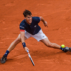 Dominic Thiem of Austria during Day 6 of the French Open 2018 on June 1, 2018 in Paris, France. (Photo by Baptiste Fernandez/Icon Sport)