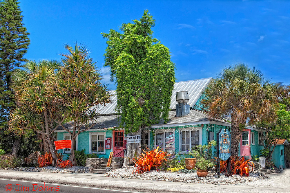 The Sign of the Mermaid on Anna Maria Island is a great place for a meal. Be sure to try one of Andrea's award winning pies.