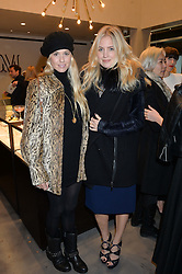 Left to right, FLORENCE ST.GEORGE and MARISSA MONTGOMERY at a party to celebrate the launch of the Monica Vinader London Flagship store at 71-72 Duke of York Square, London SW3 on 4th December 2014.