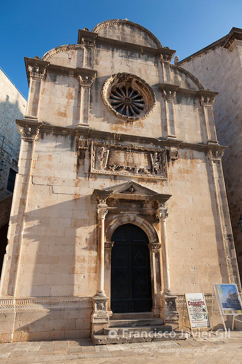 Church in the Old Town on Dubrovnik, UNESCO World Heritage Site, Dubrovnik, Dalmatia, Croatia