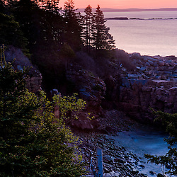 Dawn on the coast of Maine's Acadia National Park.