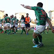 Treviso 07/04/2018 Stadio Monigo<br /> Guinness PRO14 <br /> Benetton Treviso v Dragons<br /> Tommaso Allan