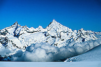 View of the Alps from the Breithorn, near Zermatt, Switzerland