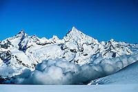 View of the Alps from the Breithorn, near Zermatt, Switzerland