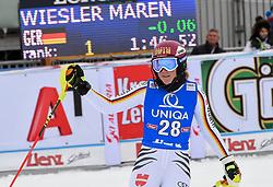 28.12.2017, Hochstein, Lienz, AUT, FIS Weltcup Ski Alpin, Lienz, Slalom, Damen, 2. Lauf, im Bild Maren Wiesler (GER) // Maren Wiesler of Germany reacts after her 2nd run of ladie's Slalom of FIS ski alpine world cup at the Hochstein in Lienz, Austria on 2017/12/28. EXPA Pictures © 2017, PhotoCredit: EXPA/ Erich Spiess