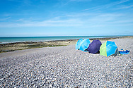 Het strand bij Quiberville-Plage - Beach near Quiberville-Plage, Normandy, France