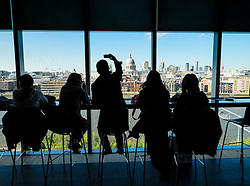 View  from Tate Modern art gallery in London United Kingdom