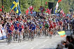 during the Men's Elite Road Race at the UCI Road World Championships on September 25, 2011 in Copenhagen, Denmark. (Photo by Marjan Kelner / Sportida Photo Agency)