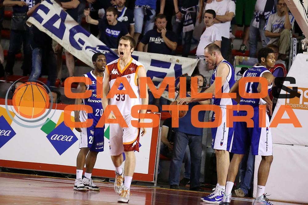 DESCRIZIONE : Roma Lega A 2012-2013 Acea Roma Lenovo Cant&ugrave; playoff semifinale gara 2<br /> GIOCATORE : Aleksander Czyz<br /> CATEGORIA : esultanza<br /> SQUADRA : Acea Roma<br /> EVENTO : Campionato Lega A 2012-2013 playoff semifinale gara 2<br /> GARA : Acea Roma Lenovo Cant&ugrave;<br /> DATA : 27/05/2013<br /> SPORT : Pallacanestro <br /> AUTORE : Agenzia Ciamillo-Castoria/ElioCastoria<br /> Galleria : Lega Basket A 2012-2013  <br /> Fotonotizia : Roma Lega A 2012-2013 Acea Roma Lenovo Cant&ugrave; playoff semifinale gara 2<br /> Predefinita :