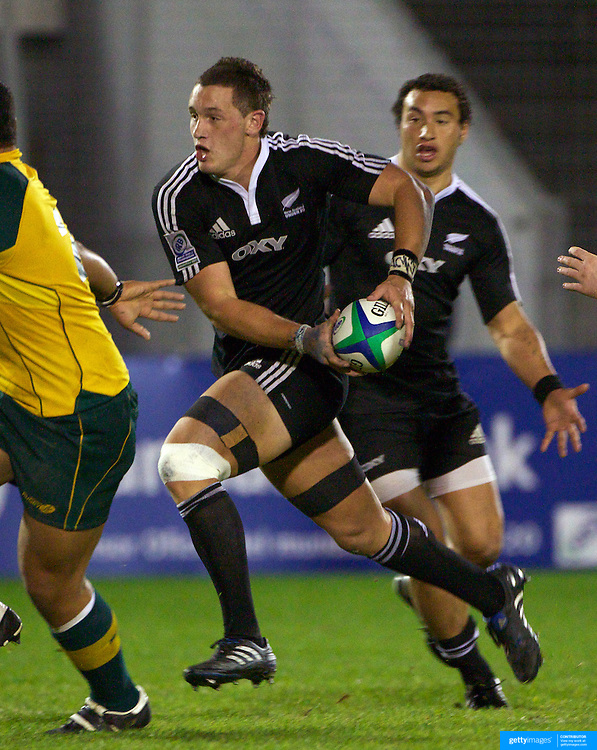 Rory Grice, New Zealand, in action during the Australia V New Zealand Final match at the IRB Junior World Championships in Argentina. New Zealand won the match 62-17 at Estadio El Coloso del Parque, Rosario, Argentina,. 21st June 2010. Photo Tim Clayton...