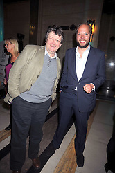 Left to right, chef proprietor of Le Café Anglais ROWLEY LEIGH and CHARLIE McVEIGH at the San Pellegrino World's 50 Best Restaurants Awards 2009 at Freemason's Hall, Great Queen Street, London on 20th April 2009.<br /> Left to right, chef proprietor of Le CafŽ Anglais ROWLEY LEIGH and CHARLIE McVEIGH at the San Pellegrino World's 50 Best Restaurants Awards 2009 at Freemason's Hall, Great Queen Street, London on 20th April 2009.