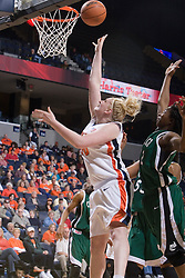 Virginia Cavaliers Forward/Center Abby Robertson (30) shoots against Charlotte.  The Virginia Cavaliers women's basketball team defeated The University of North Carolina - Charlotte 49ers 74-72 in the 2nd round of the Women's NIT at John Paul Jones Arena in Charlottesville, VA on March 19, 2007.
