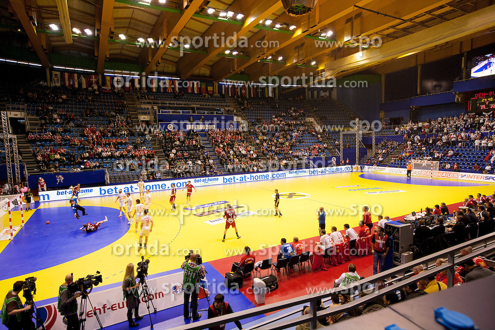 Arena Pionir during handball match between Denmark and Slovakia in Preliminary Round of 10th EHF European Handball Championship Serbia 2012, on January 15, 2012 in Arena Pionir, Belgrade, Serbia. Denmark defeated Slovakia 30-25. (Photo By Vid Ponikvar / Sportida.com)