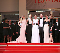Director Sofia Coppola.with the cast of the Bling Ring at at the gala screening of Jeune & Jolie at the 2013 Cannes Film Festival 16th May 2013