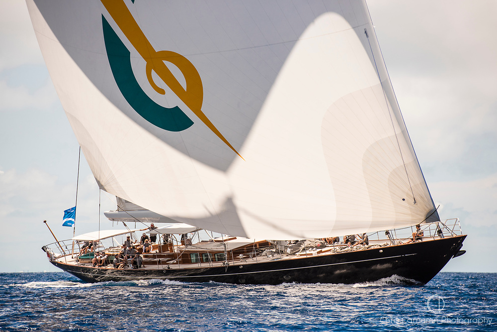 Bermuda, 13th June 2017. America's Cup Superyacht regatta. Race one. Action.