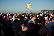 Runners wait for the start of the Silver Strand Half Marathon in Coronado, CA, Nov. 14, 2010.