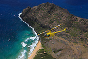 Helicopter flight, Kauai, Hawaii