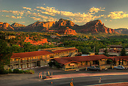 Sedona, USA, Arizona. Red mountain formations.