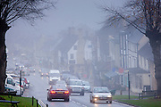 Misty scene at Burford in The Cotswolds, Oxfordshire, UK
