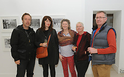 Pictured at the opening of Sean Hillen's exhibition at the Custom House Studios as part of Westport Art's festival were Chris Coe, Dragana Jurisic, Cathy Waddell, Breeda Burns and John Henry.<br />Pic Conor McKeown