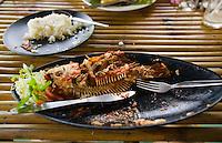 A Thai meal including a whole fish&#xA;<br />