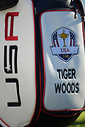 Golf Bag of Tiger Woods during the Ryder Cup 2018, at Golf National in Saint-Quentin-en-Yvelines, France, September 26, 2018 - Photo Pool / KMSP / ProSportsImages / DPPI