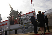 US Aerospace manufacturer Raytheon's hospitality chalet at the Farnborough Airshow.