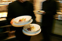 foods leaving the kitchen, Restaurant Daniel, NYC (Daniel Boulud)
