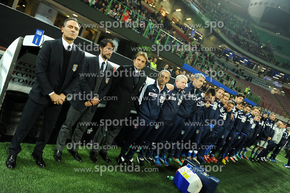 16.10.2012, Giuseppe Meazza Stadion, Mailand, ITA, FIFA WM Qualifikation, Italien vs Daenemark, im Bild Cesare Prandelli // during the FIFA World Cup Qualifier Match between Italy and Denmark at the Stadio Giuseppe Meazza, Milano, Italy on 2012/10/16. EXPA Pictures © 2012, PhotoCredit: EXPA/ Insidefoto/ Andrea Staccioli..***** ATTENTION - for AUT, SLO, CRO, SRB, SUI and SWE only *****