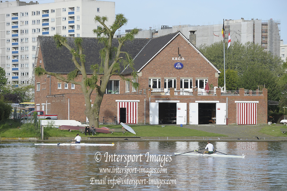 Gent, BELGIUM,  General views, Koninklijke Roeiveniging Club Gent, Boathouse and Boating stages, at  the International Belgian Rowing Championships, Saturday 09/05/2009, [Mandatory Credit. Peter Spurrier/Intersport Images]