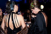 VIBEKE LARSEN; NATALIE REBEIZ, Grey Goose Winter Ball to Benefit the Elton John AIDS Foundation. Battersea park. London. 29 October 2011. <br /> <br />  , -DO NOT ARCHIVE-© Copyright Photograph by Dafydd Jones. 248 Clapham Rd. London SW9 0PZ. Tel 0207 820 0771. www.dafjones.com.