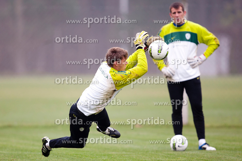 Vid Belec during the Slovenia training before friendly match between National teams of Slovenia and ZDA at Kidricevo, on  9th November, 2011 in Ptuj, Slovenia (Photo by Urban Urbanc / Sportida Photo Agency)