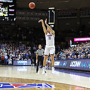 STORRS, CONNECTICUT- NOVEMBER 17: Kia Nurse #11 of the UConn Huskies shoots for three during the UConn Huskies Vs Baylor Bears NCAA Women's Basketball game at Gampel Pavilion, on November 17th, 2016 in Storrs, Connecticut. (Photo by Tim Clayton/Corbis via Getty Images)