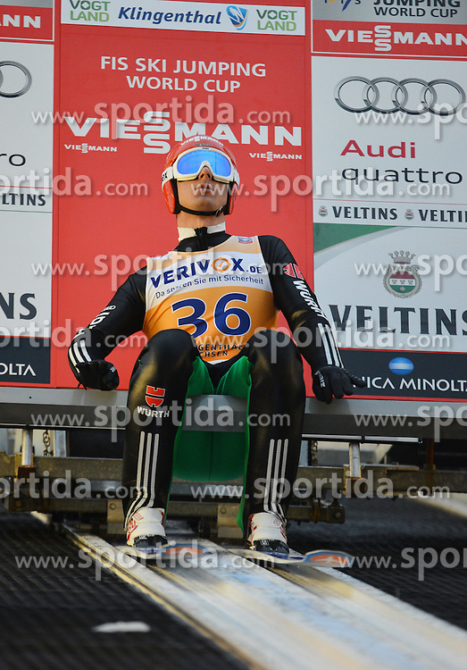 21.11.2014, Vogtland Arena, Klingenthal, GER, FIS Weltcup Ski Sprung, Klingenthal, Herren, HS 140, Qualifikation, im Bild Andreas Wank (GER) // during the mens HS 140 qualification of FIS Ski jumping World Cup at the Vogtland Arena in Klingenthal, Germany on 2014/11/21. EXPA Pictures &copy; 2014, PhotoCredit: EXPA/ Eibner-Pressefoto/ Harzer<br /> <br /> *****ATTENTION - OUT of GER*****